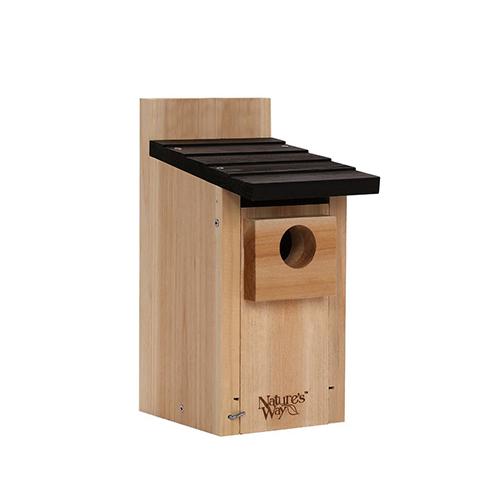4 Nature's Way Bird Products CWH3 Cedar Bluebird Box House -