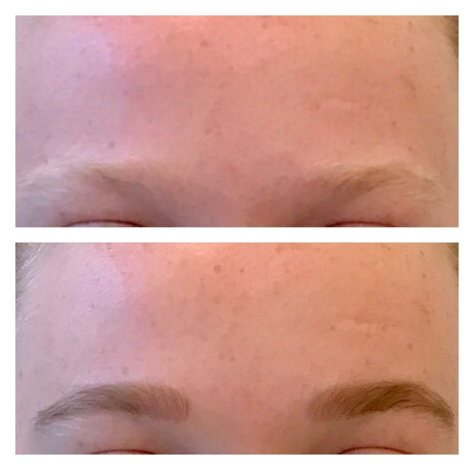 Lash and brow tinting - Check before and after picture!!