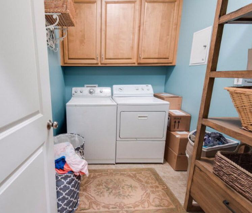 This is our laundry room before we moved in.