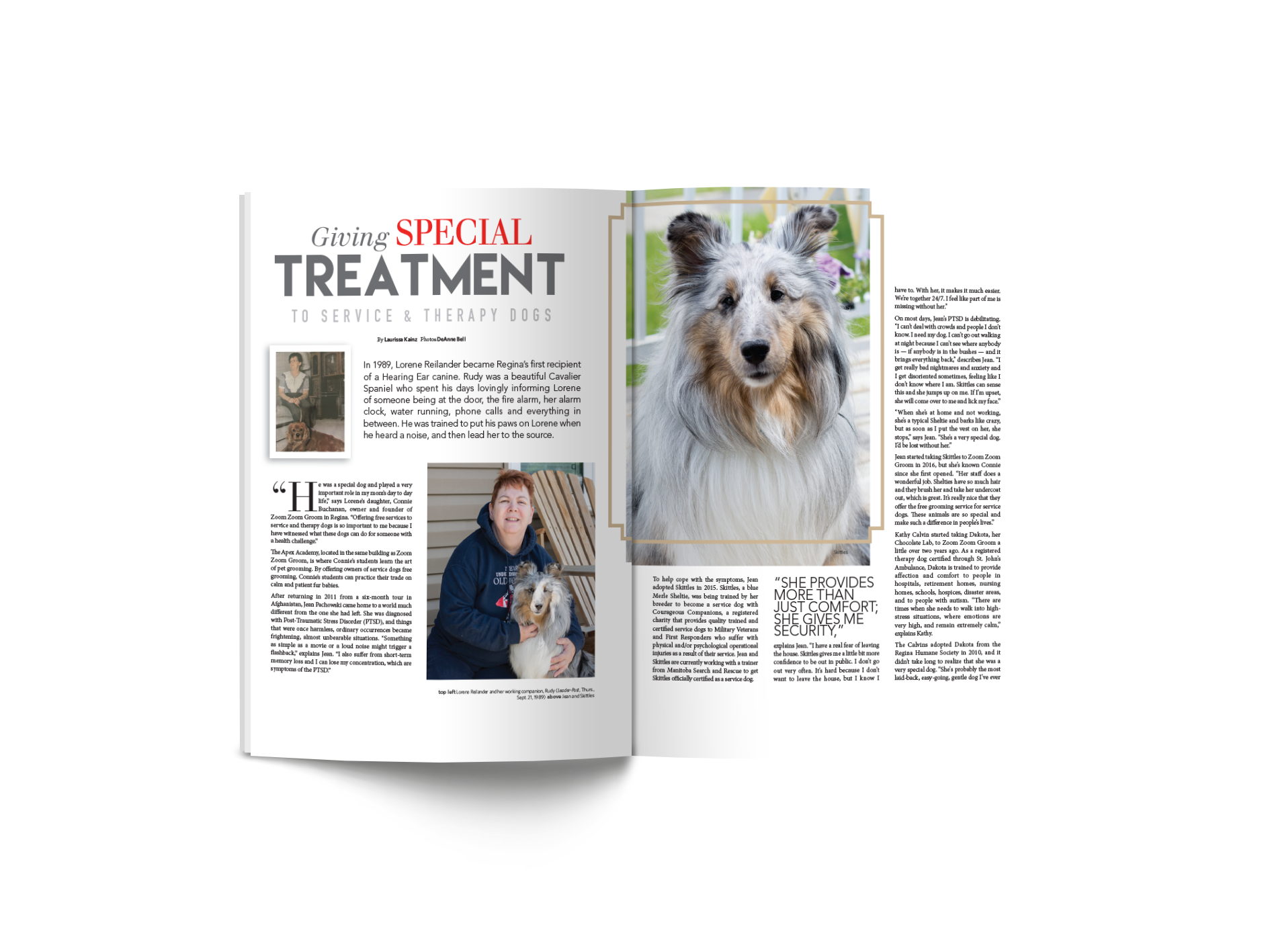 Giving Special Treatment to Service and Therapy Dogs