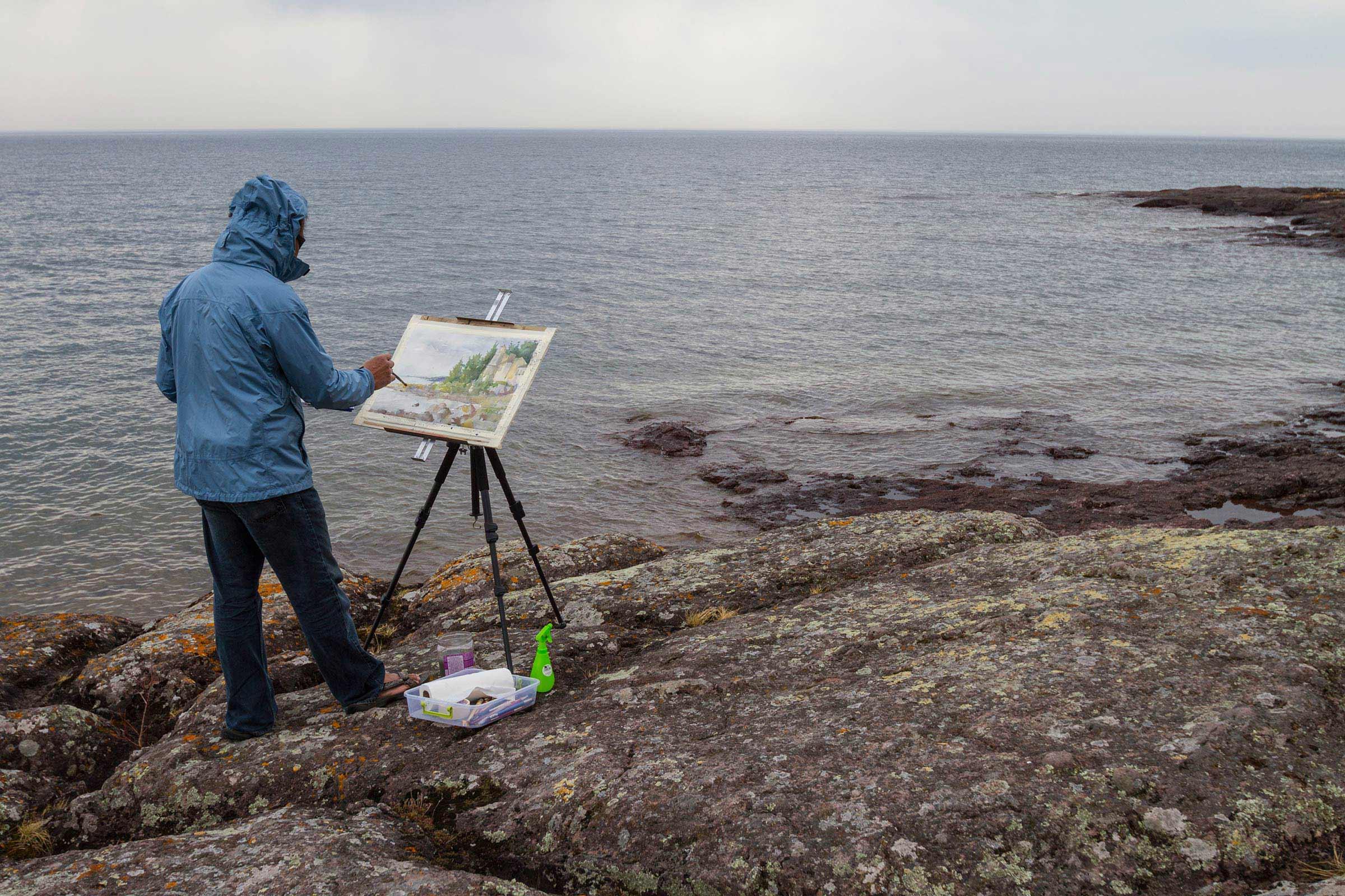 """""""Plein Air"""" (live, landscape) painting"""