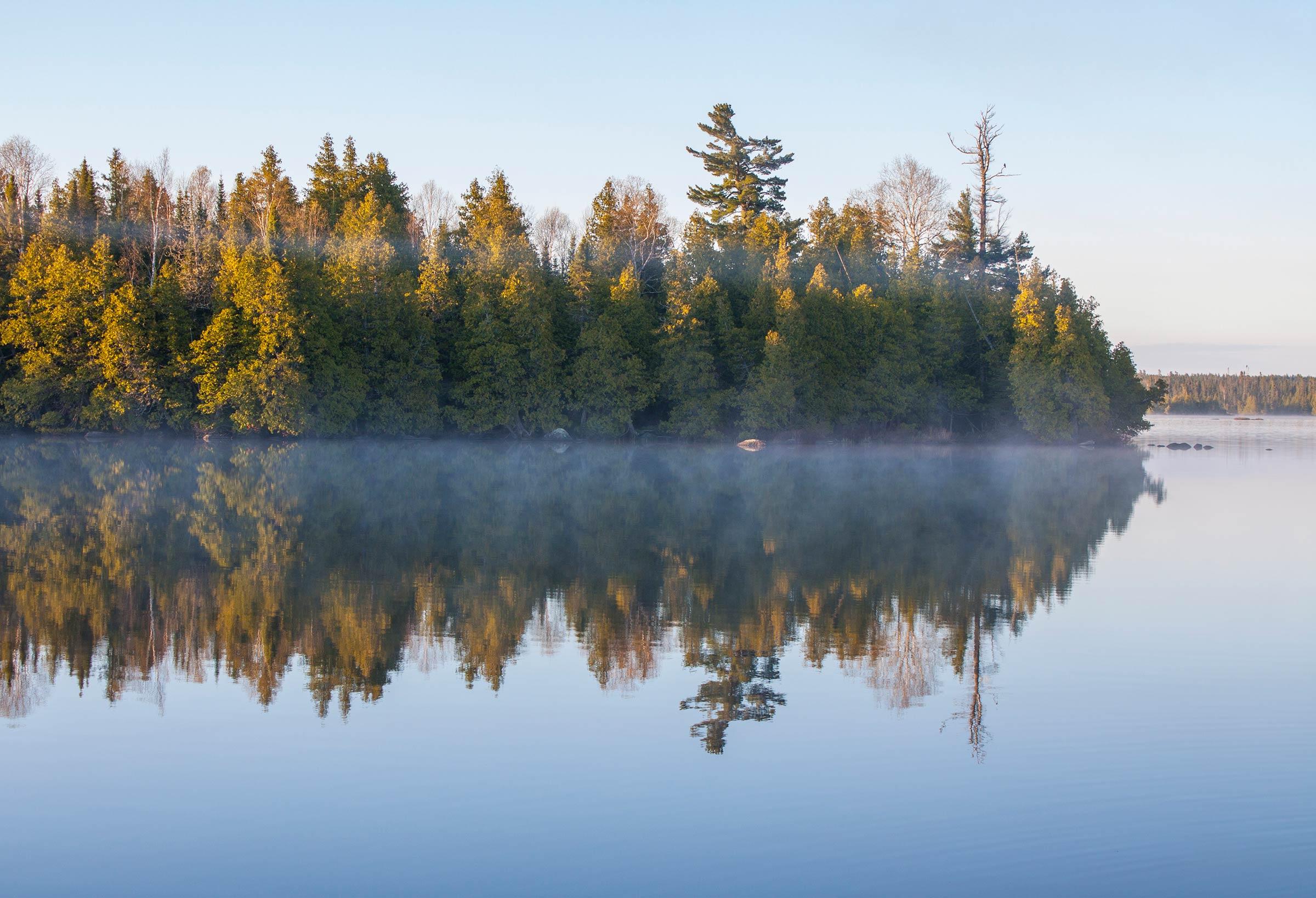 Inland lake beauty
