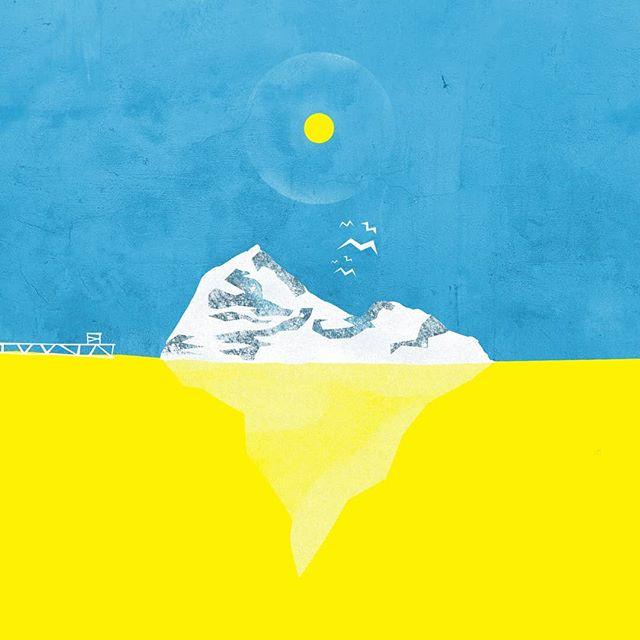 A little local inspiration... #illustration #graphicdesign #flatdesigns #yellow #blue #iceberg #print #newfoundlandandlabrador #newfoundlandartist #newfoundland #newfoundlandart #photoshop #adobe