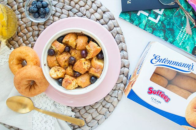 French Toast Bake w/ @Entenmanns Softee Donuts 🍩 Delicately sweet & fluffy. Perfect start to my day 🌤 #sponsored #entenmanns #everyonesgotafavorite