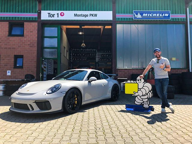 Big thanks to @michelin for hooking me up with a set of Pilot Sport Cup 2's at the last minute! Landed at the Nurburgring to 44°C, the hottest day on record for Germany I was told! Not exactly the kind of temperatures conducive to consistent lap times but fresh rubber helped a lot! . Videos coming soon: YouTube.com/MrJWW . #MrJWW #Porsche #GT3 #Michelin #Nurburgring
