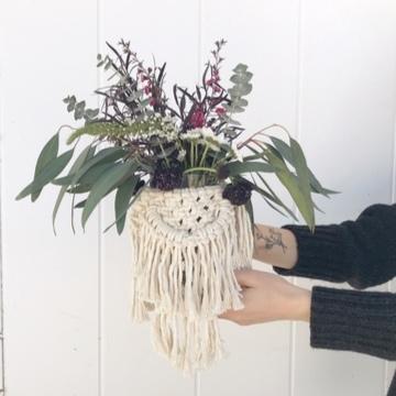 Floral Bouquet and Macrame Wrap