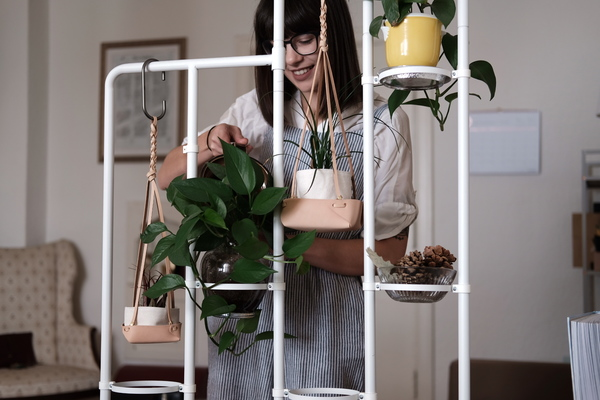 DIY Leather Plant Hangers