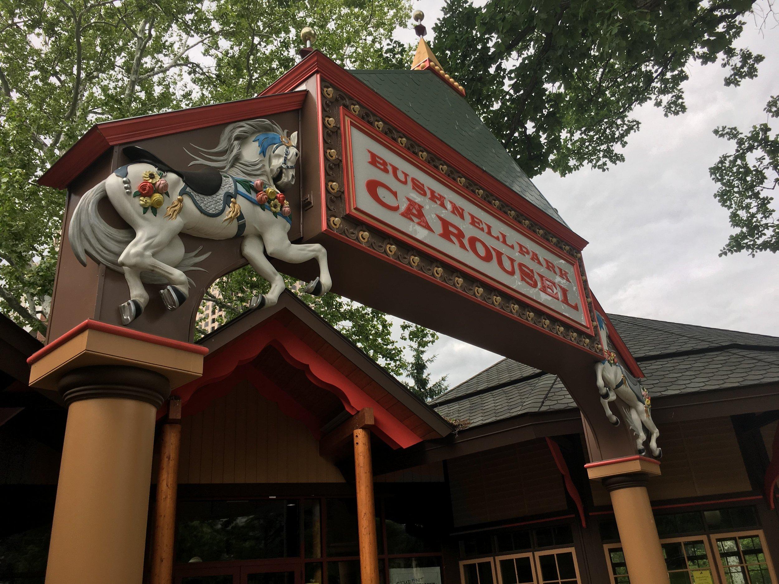 Merry-go-round in Bushnell Park