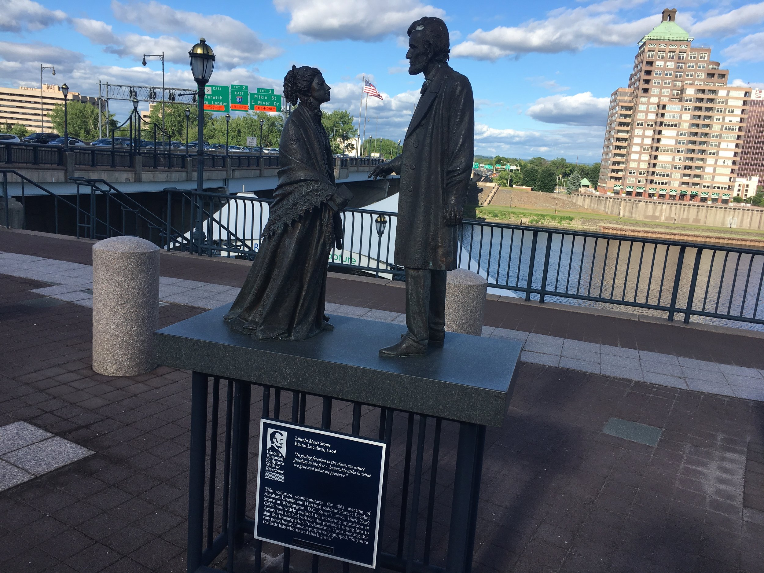 Commemorating a meeting between Lincoln and Hartford resident Harriet Beecher Stowe in D.C.