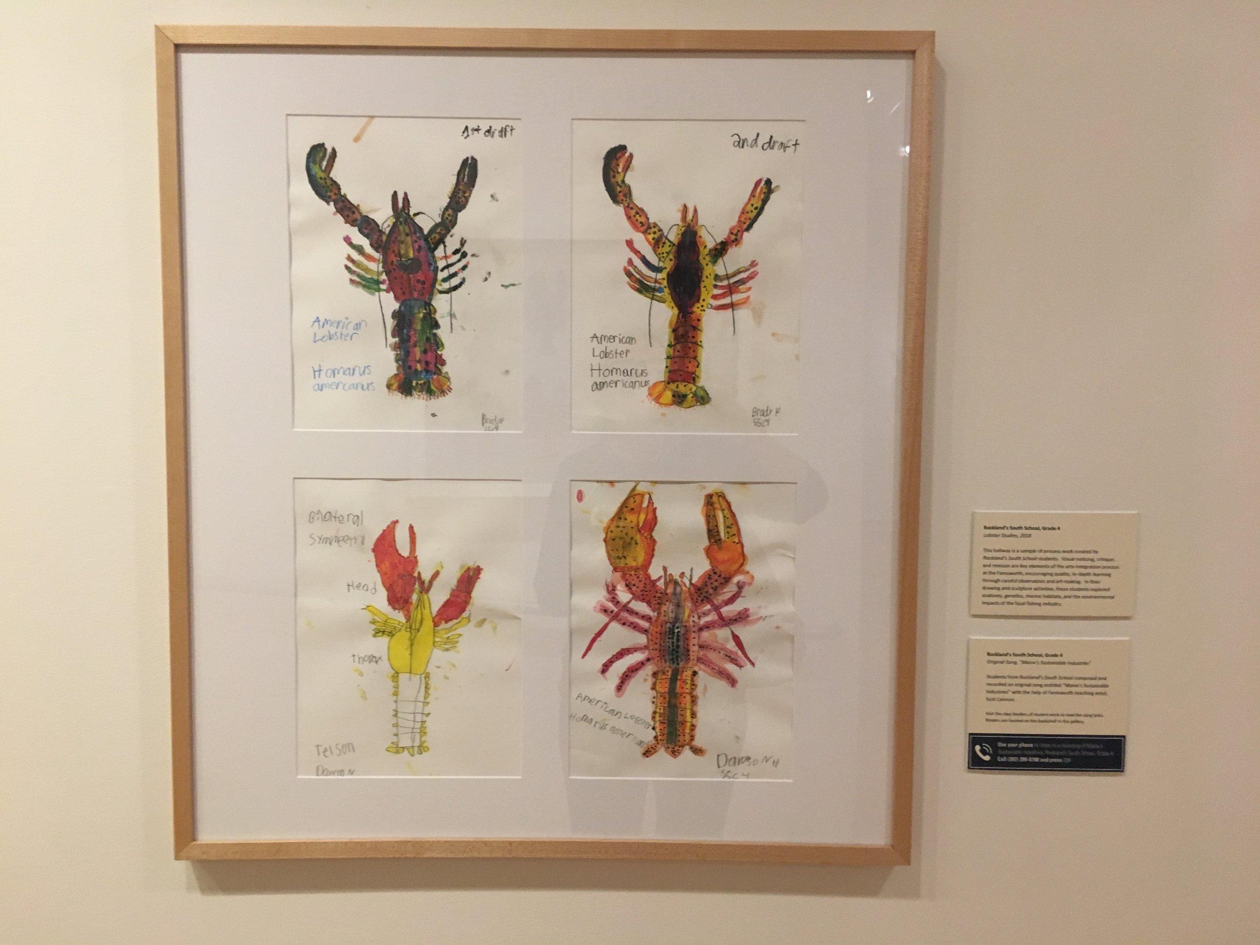 Lobster art by kids