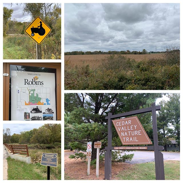 Cedar Valley Nature Trail, about 4 miles round trip from Hiawatha to Robins #womenwhowalk #iowa #naturetrail #fallwalks