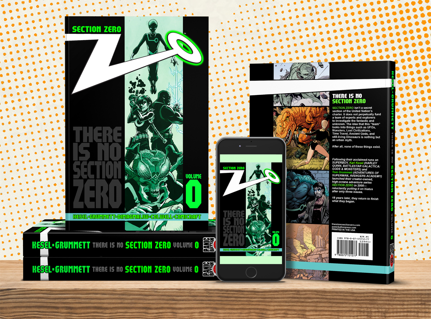 SECTION ZERO, VOLUME 0 - If you missed the KICKSTARTER, you can still get the book. Plus many of the rewards we offered. Because that's how much we like you.