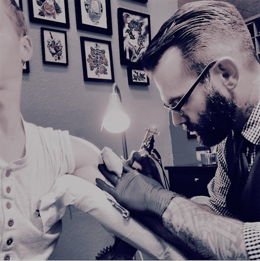 LUCKY MALONY, tattooist extraordinaire.