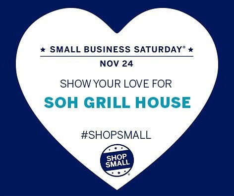 Join us at Soh Grill House this Saturday ❤️ #sohgrillhouse #shopsmall #smallbizsat