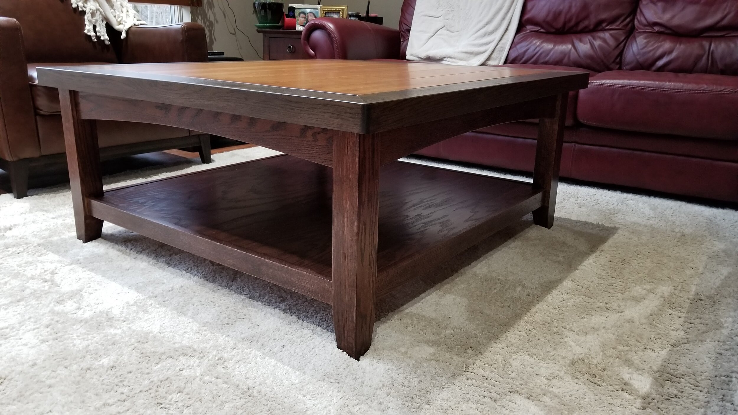 Red Oak Coffee Table Base Chestnut Ridge Workshop