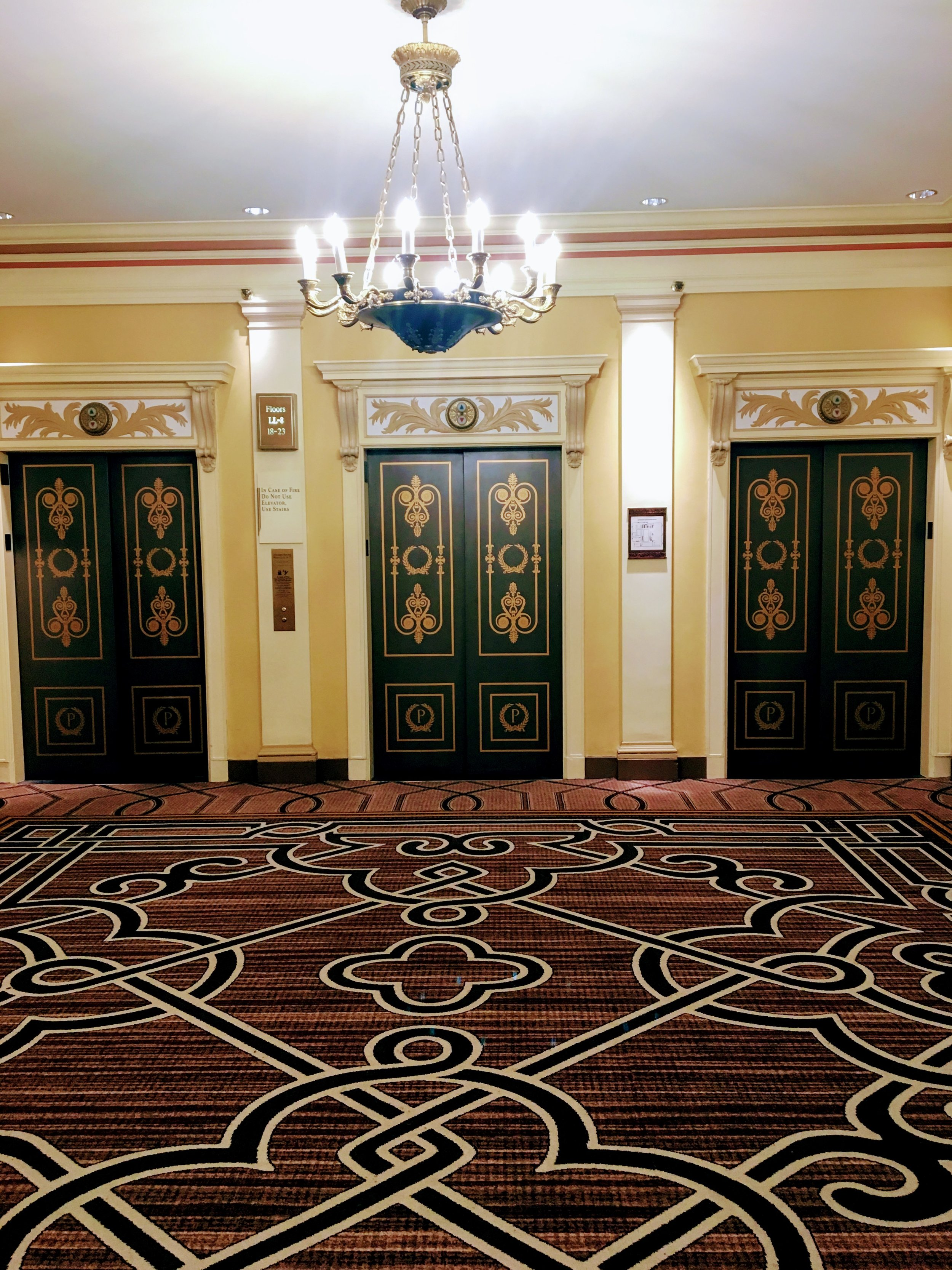 The elevators at the Palmer House. So gorgeous. Photo by Ranger Holly.