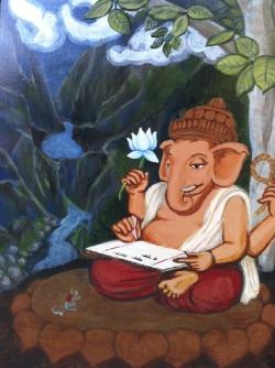 Ganesh writing Mahabharata (2014)