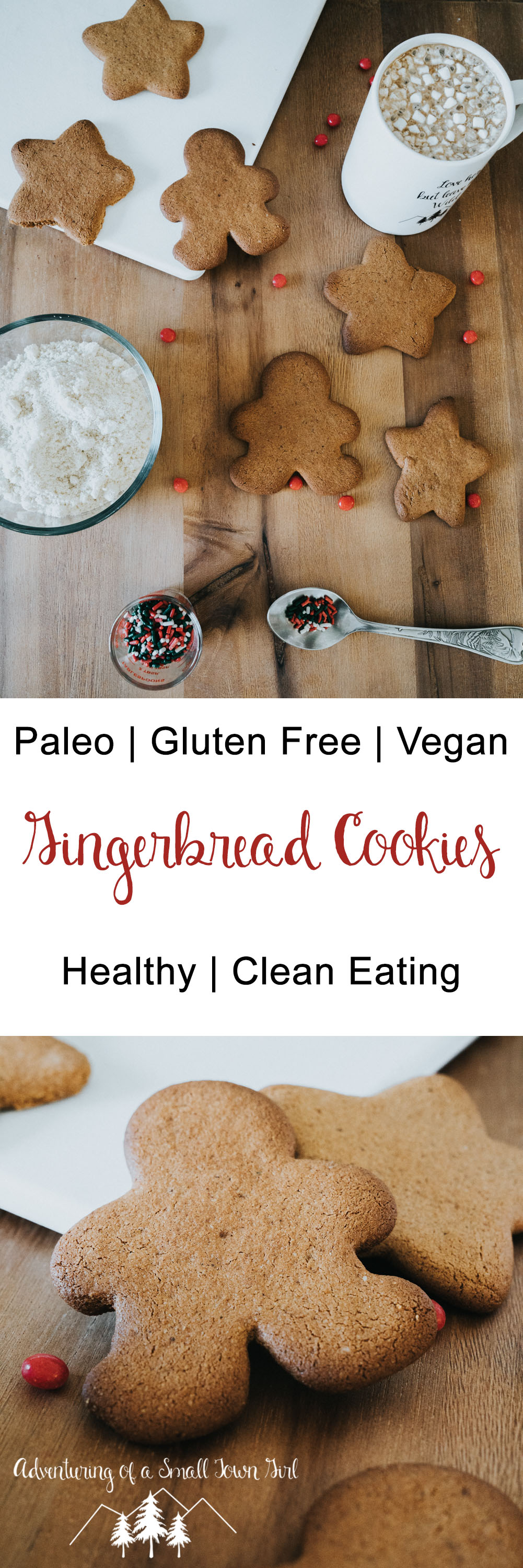 Paleo Gingerbread Cookies Recipe by Adventuring of a Small Town Girl (ASTG) - Soft Gingerbread Cookie Recipe