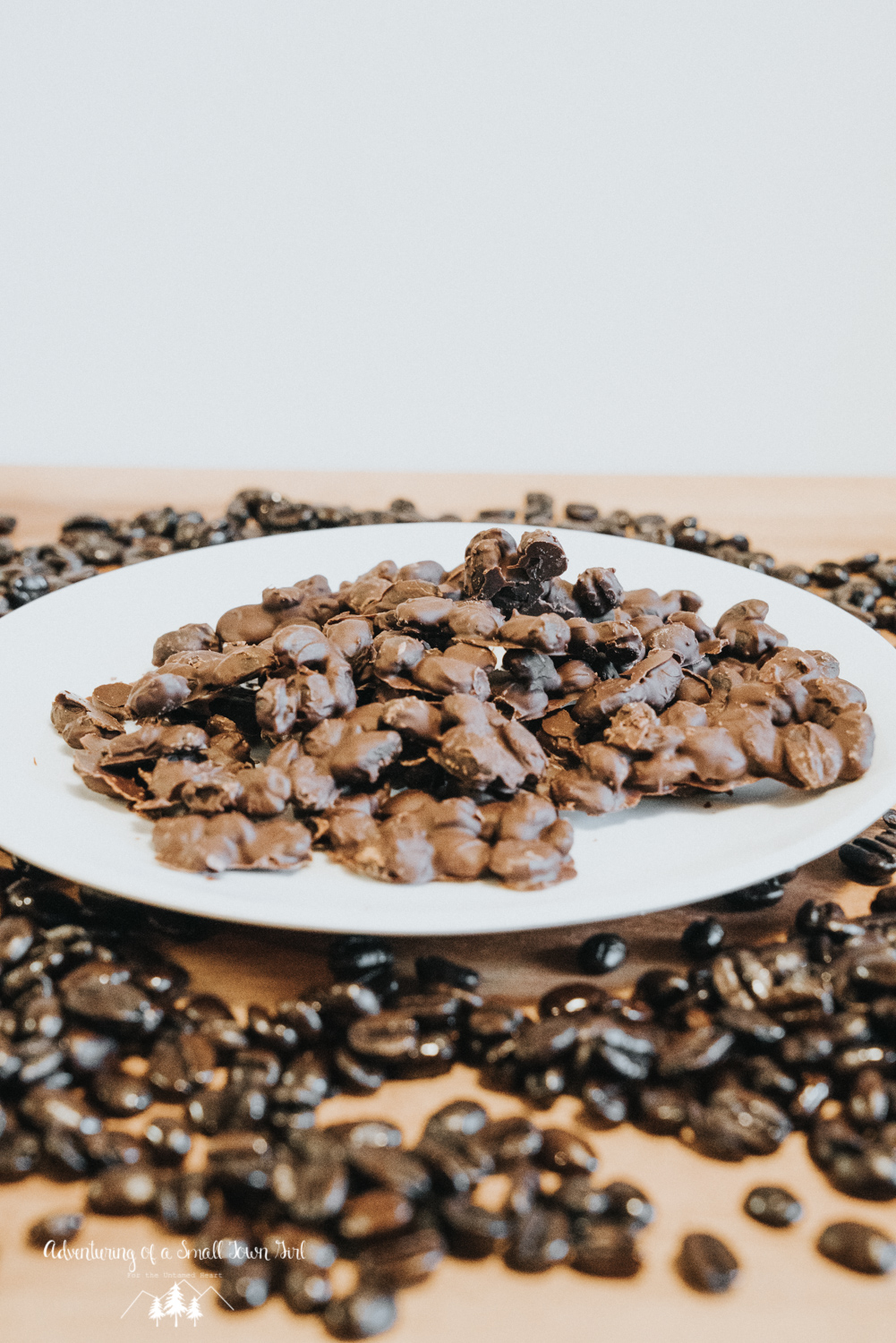 Chocolate Covered Coffee Bean Bark Recipe - Backpacking Snacks by Adventuring of a Small Town Girl