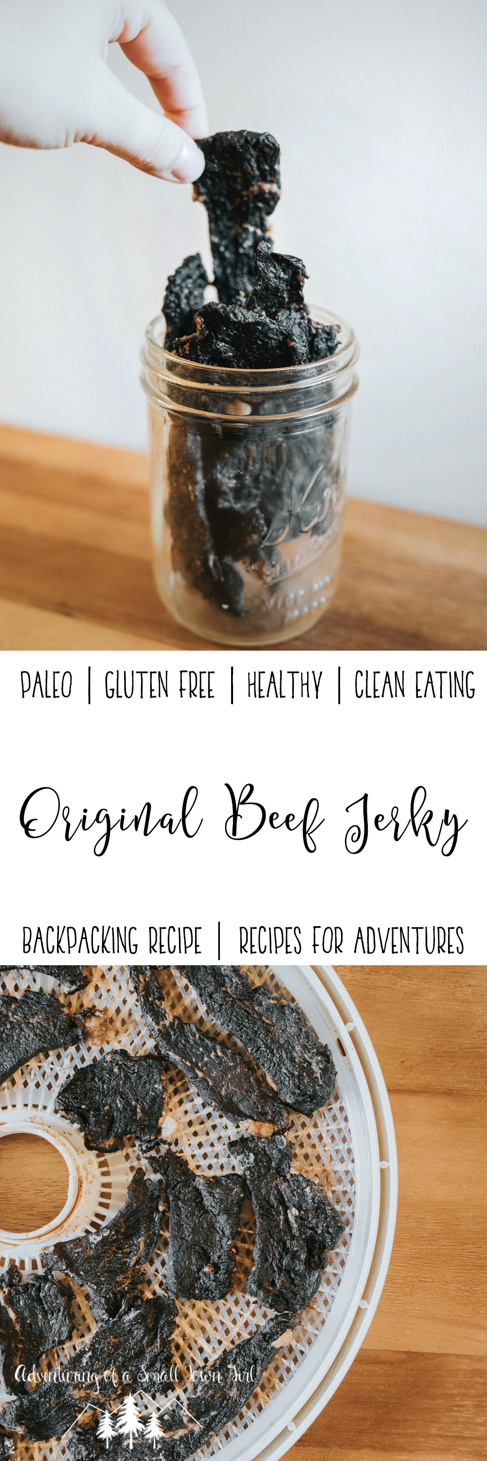 Original Beef Jerky Recipe by Adventuring of a Small Town Girl - Backpacking Recipes - Dehydrator Recipes - Recipes for adventures by ASTG