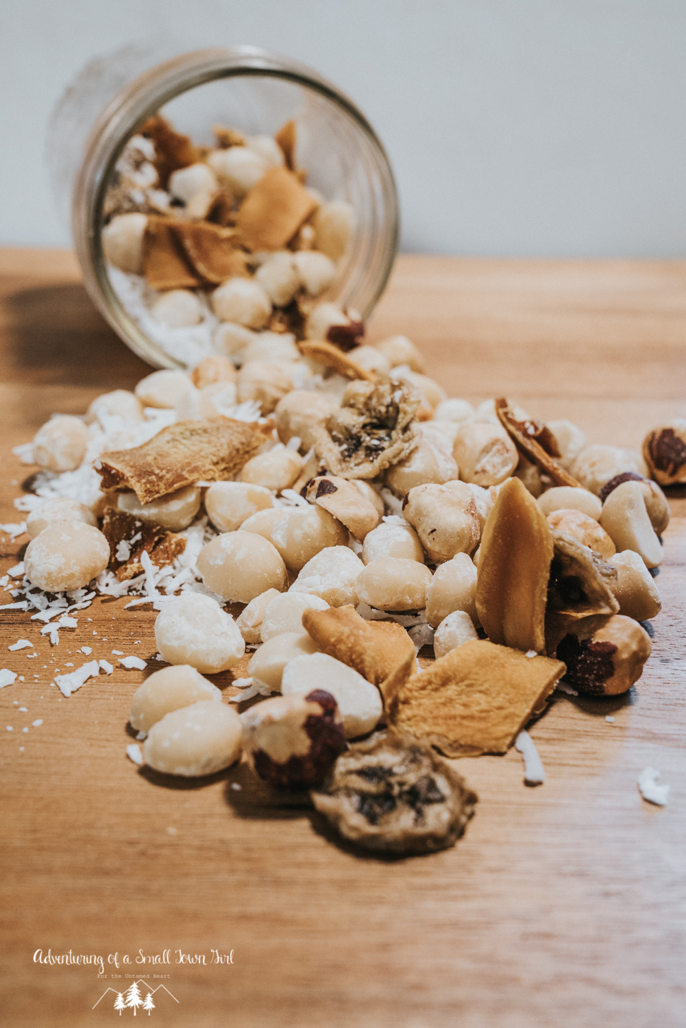 Homemade Trail Mix Recipe by Adventuring of a Small Town Girl (ASTG) - No Bake Raw Vegan Trail Mix - Make your own trail mix