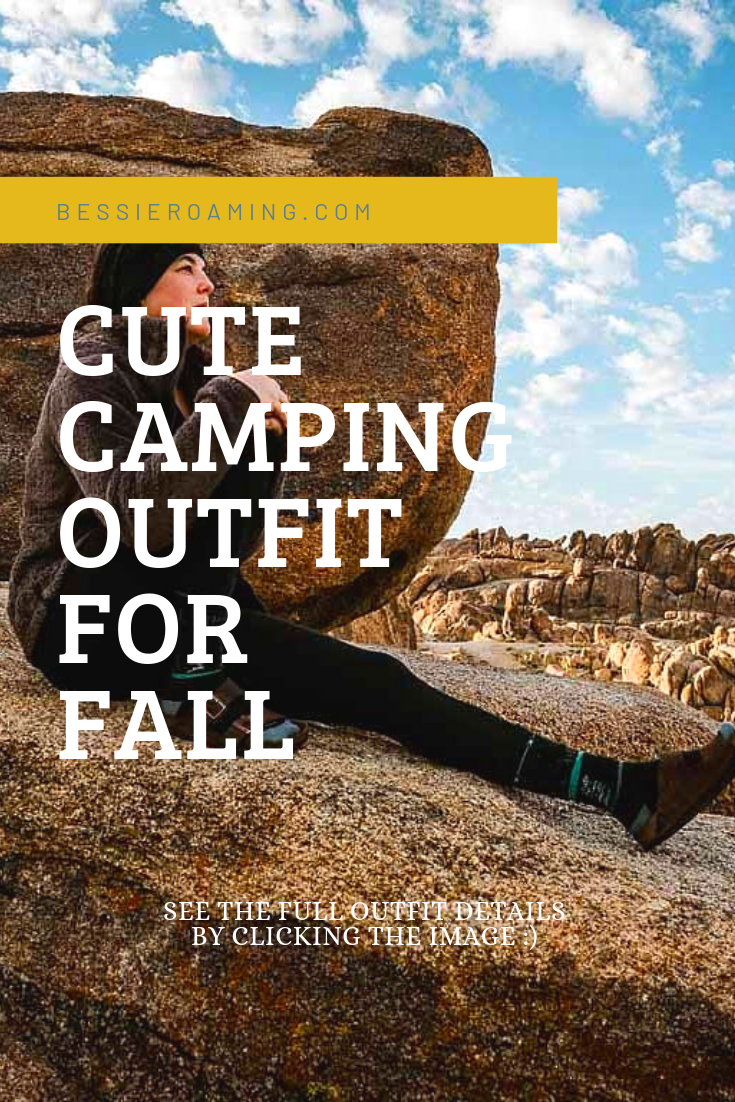 Cute camping outfit for fall! Its cute, comfy, and functional! You can't get much better. See the full style details by clicking the image - Bessie Roaming
