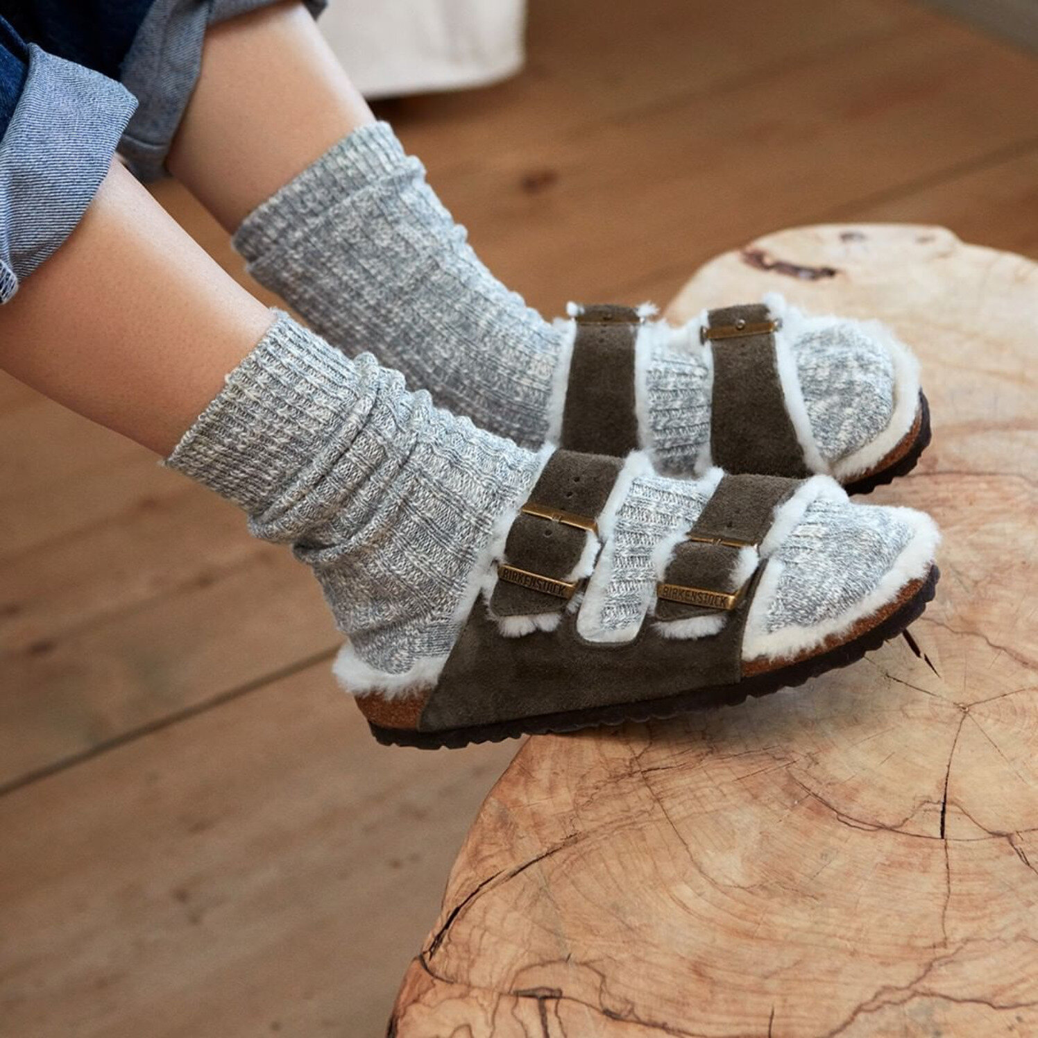 """Screenshot_2019-09-15 Birkenstock on Instagram """"For extra cosiness combine our soft shearling styles with our knitted-look [...].jpg"""