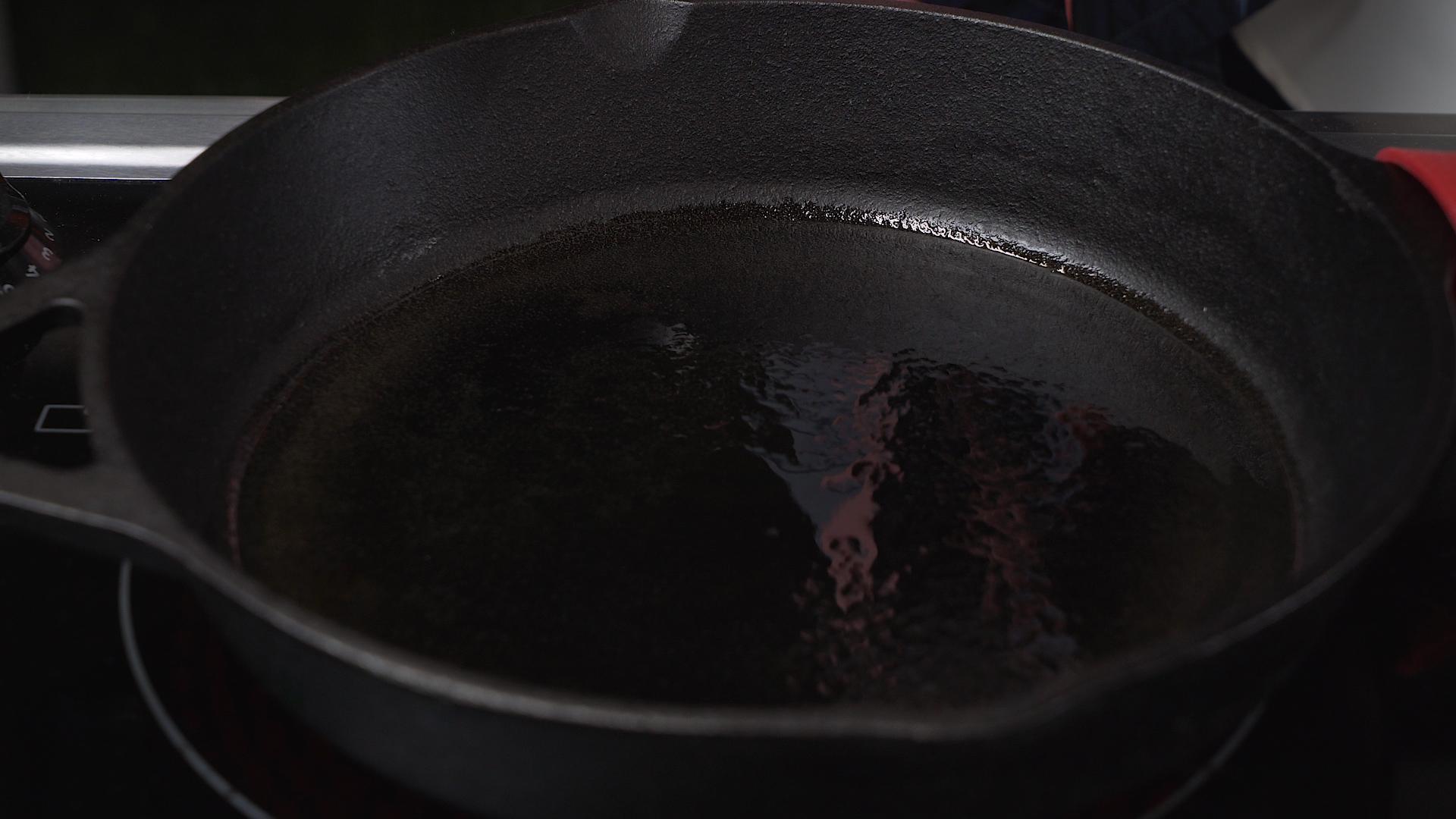 step 1 oil in skillet