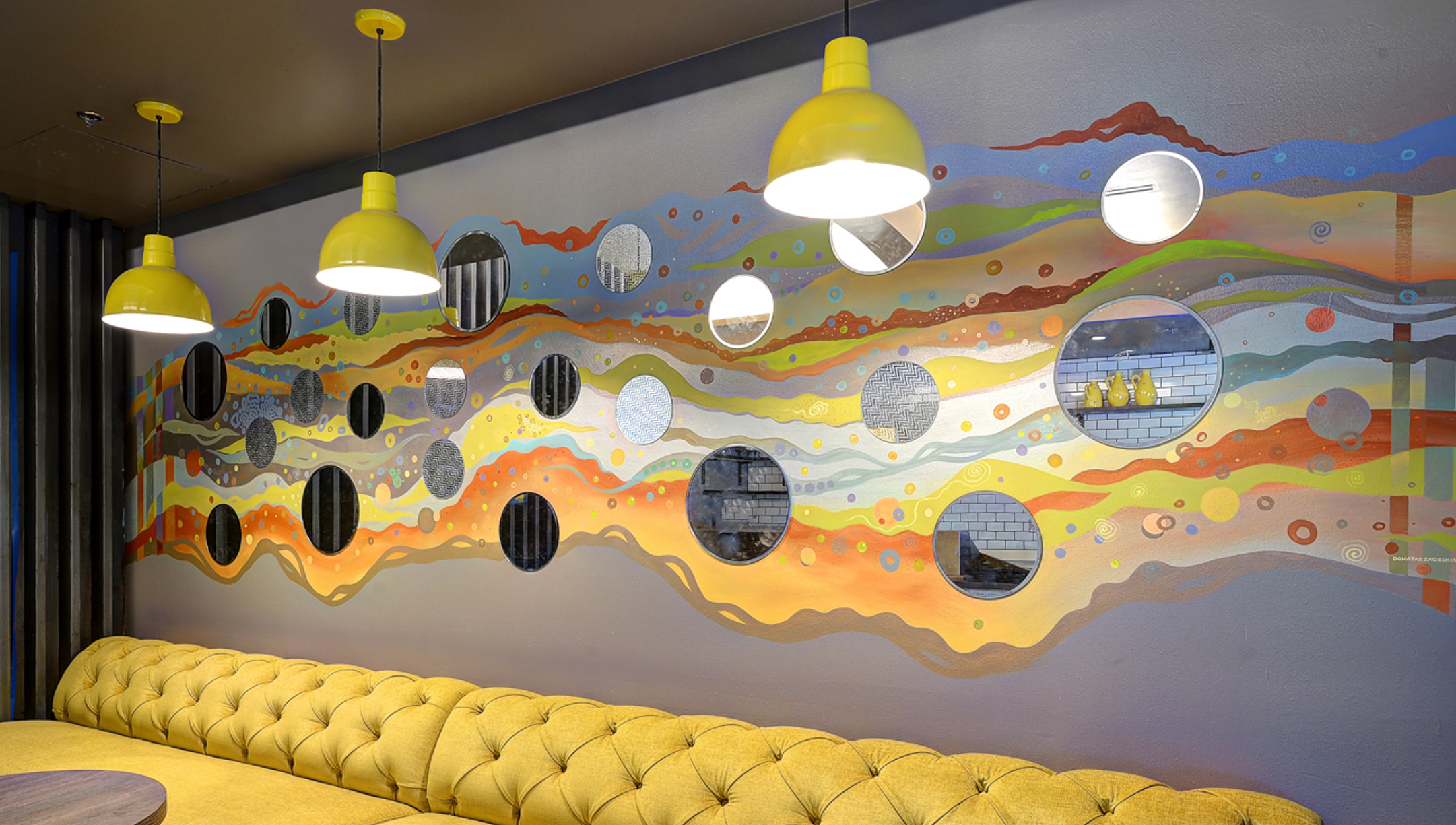 Colorful abstract murals