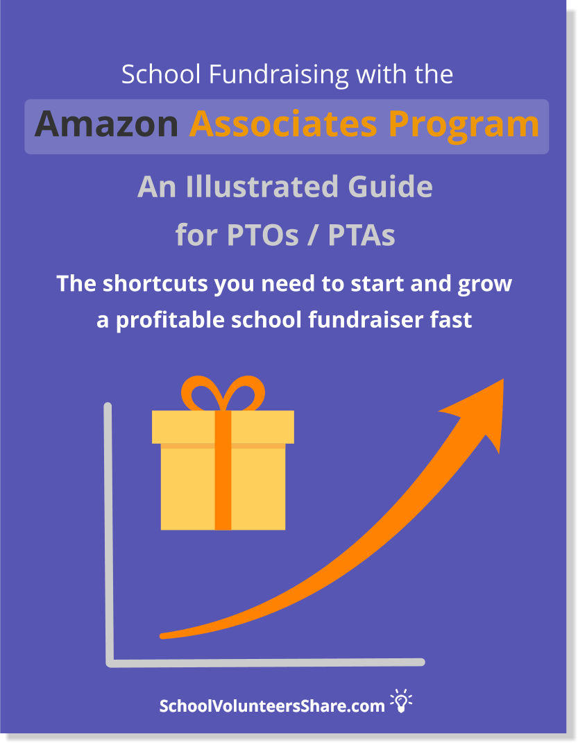 School Fundraising with the Amazon Associates Program: An Illustrated Guide for PTOs /PTAs, The shortcuts you need to start and grow a profitable school fundraiser fast. By Jen B. Cosgrove. Downloadable PDF guide.