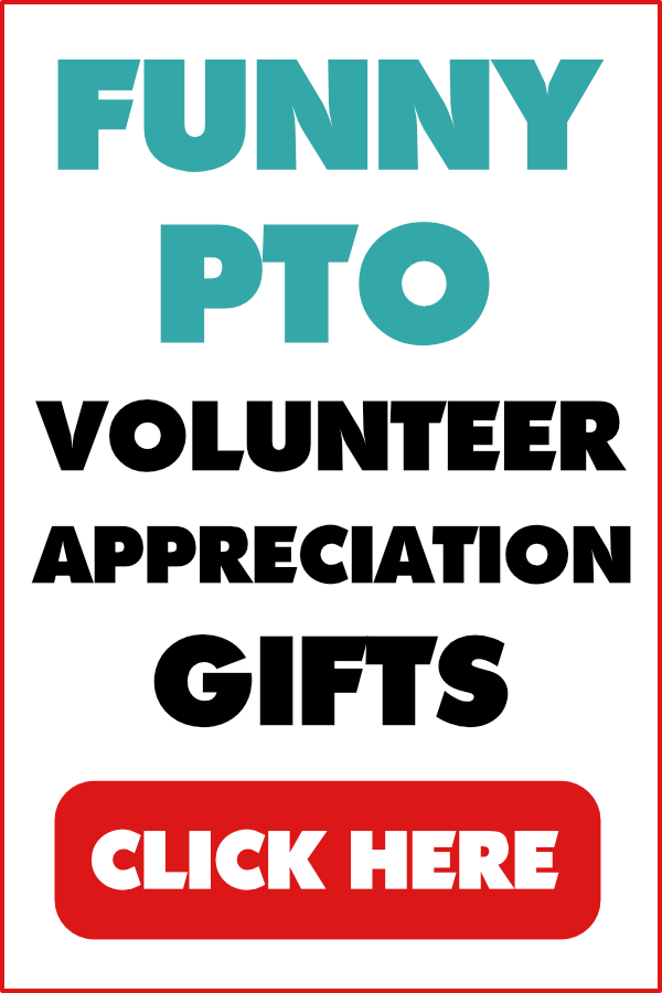 PTO gifts and PTA gifts on Amazon. Click on the image to find the perfect volunteer appreciation gifts for parent volunteers, including funny volunteer thank you gifts, inexpensive volunteer appreciation gift ideas, gifts for PTO board members, PTO President gift ideas, PTA volunteer gifts, and more