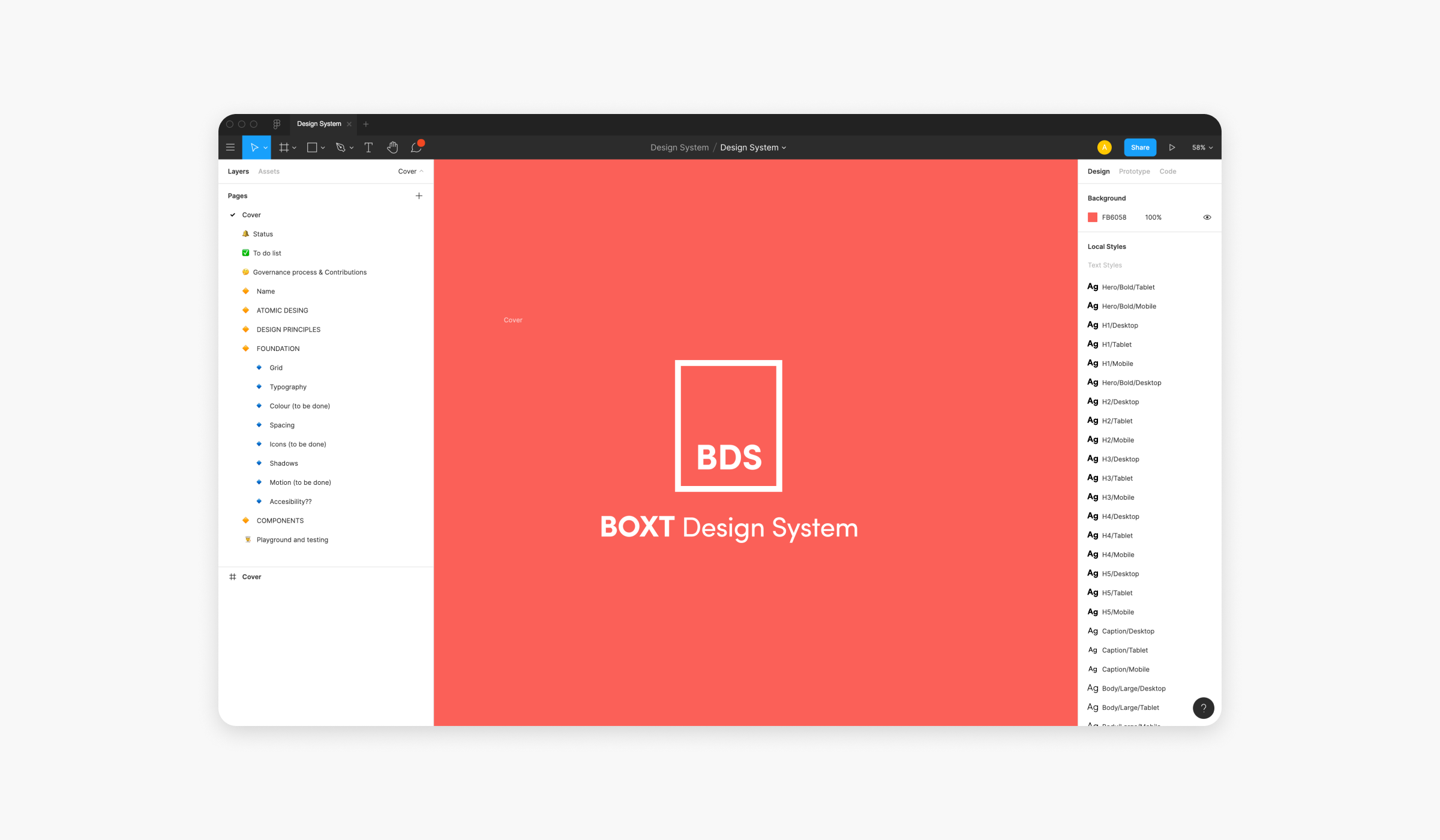 Design System for BOXT in the Figma file format.