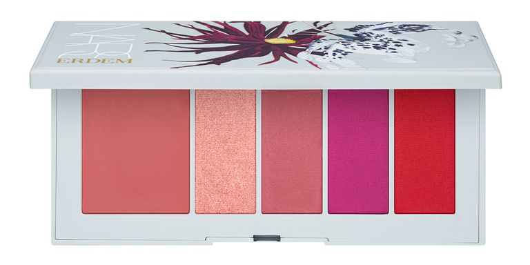 Erdem I NARS Poison Rose Lip Powder Palette   Do you ever feel like you need to spruce up your face with a hint of color while you are on the go? Us too. This sleek palette lets you keep four cream shades and one balm in your smallest clutch.