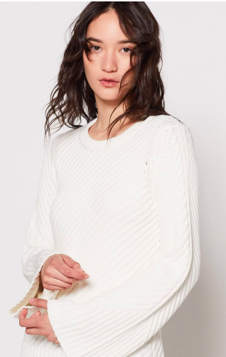 Joie - Lauraly Sweater   Inspired by classic nautical sweaters, the Lauraly is anything but predictable. From the super soft knit to the subtle flared sleeves, this is a wear-anywhere option that's still going to draw attention. Pair with cut off denim shorts or just about anything!