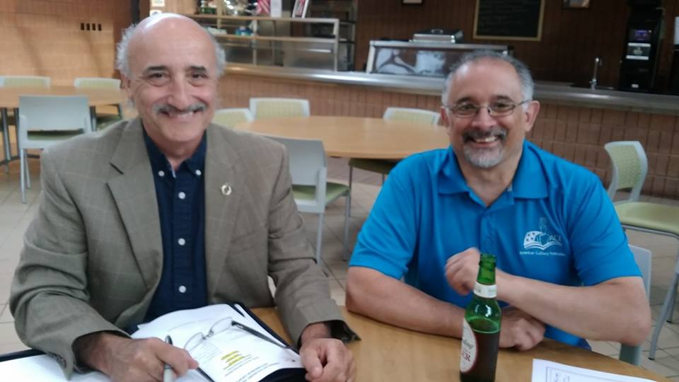 Chefs Bill Hunt and Art Inzinga