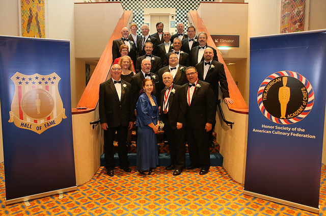The AAC New Inductees. Image from the Official ACF Flickr. More photos available here: https://www.flickr.com/photos/acfchefs/albums/72157684256086603