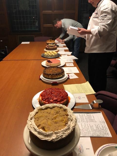 CCAC Cheesecake Competition, judges Andrea Schrenk, William Racin, and Carl Fazio