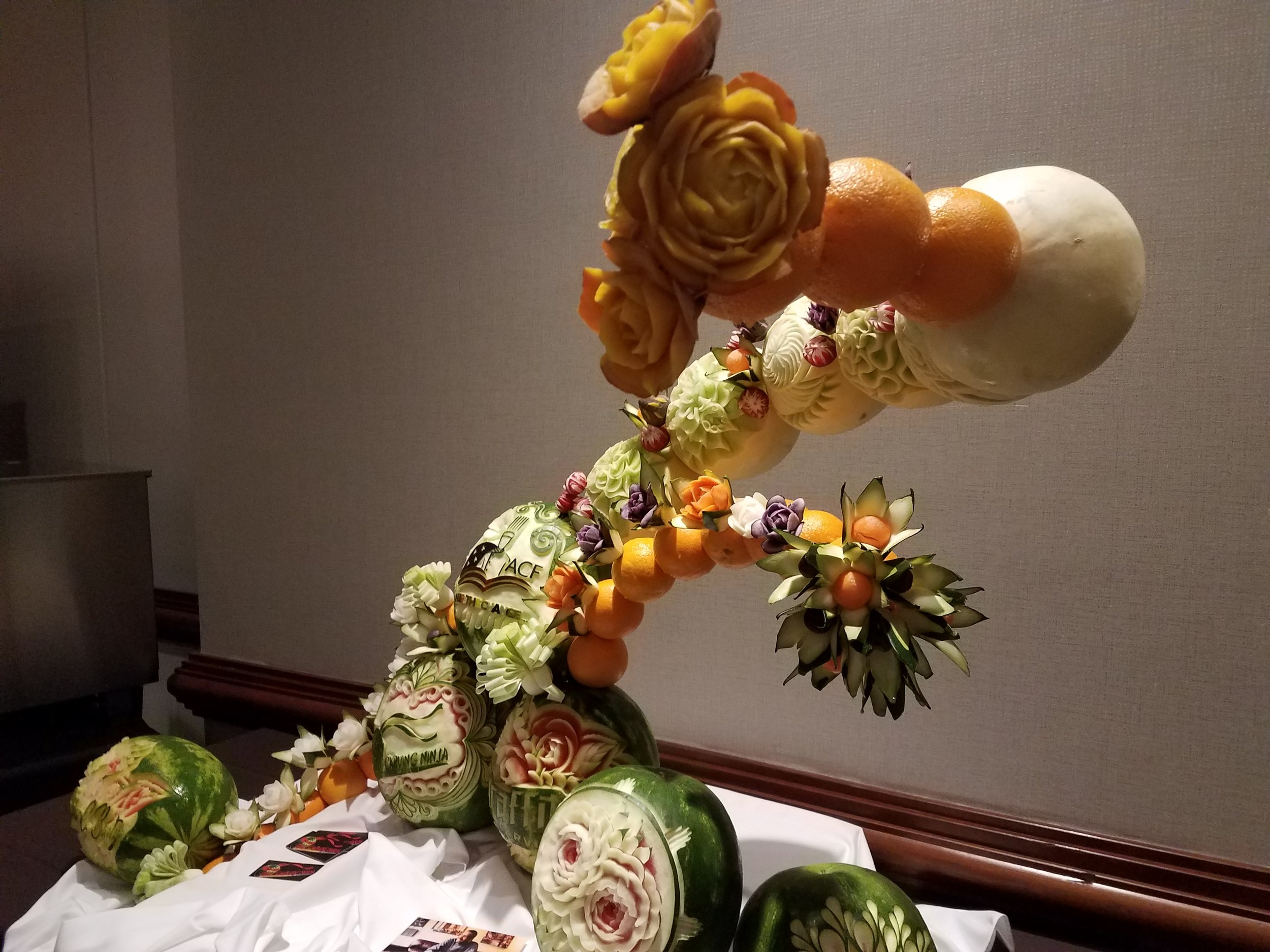 Fruit Carving from the Welcome Reception at Chef Connect
