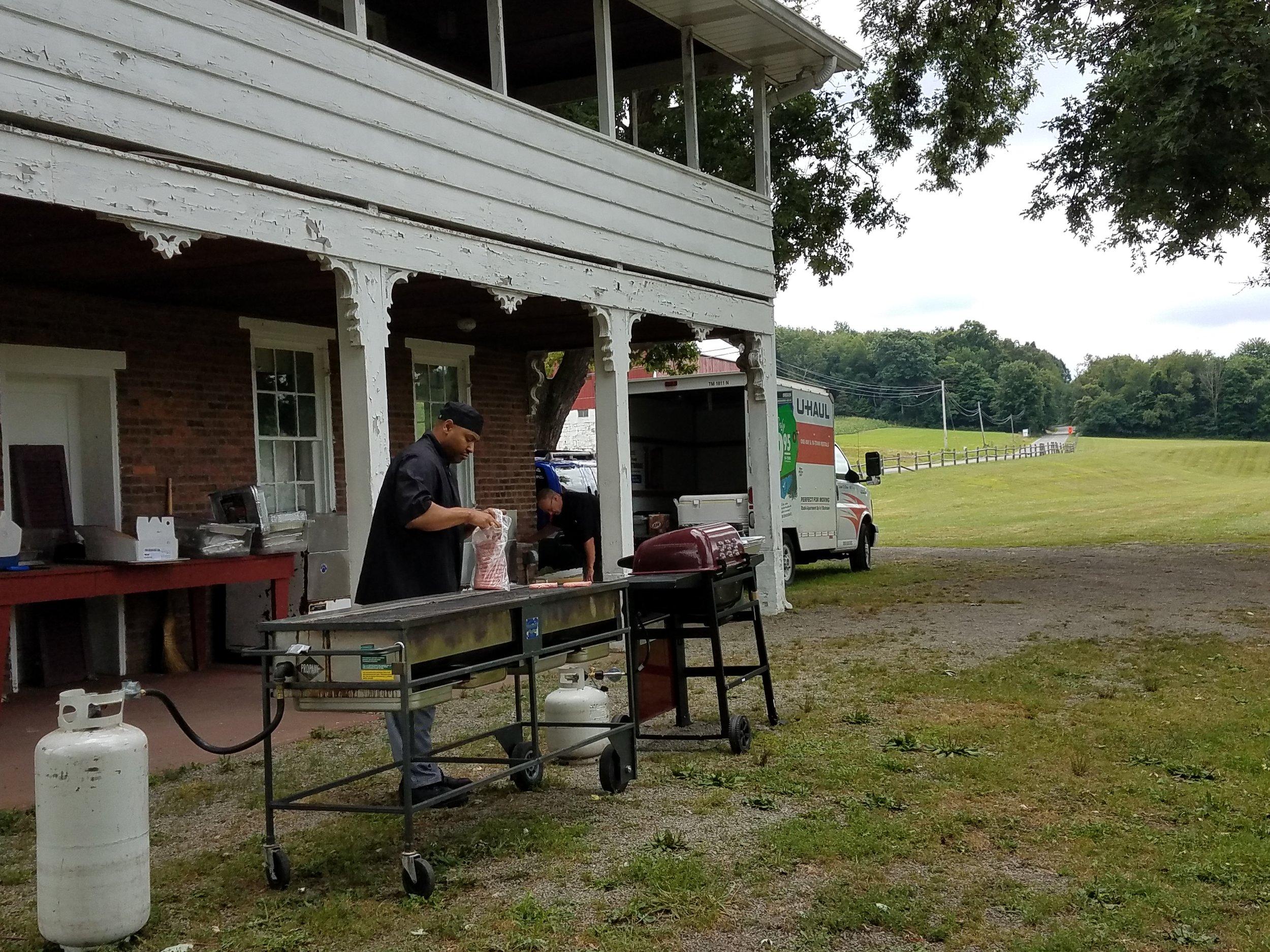 Jolando Hinton cooking at the picnic.jpg