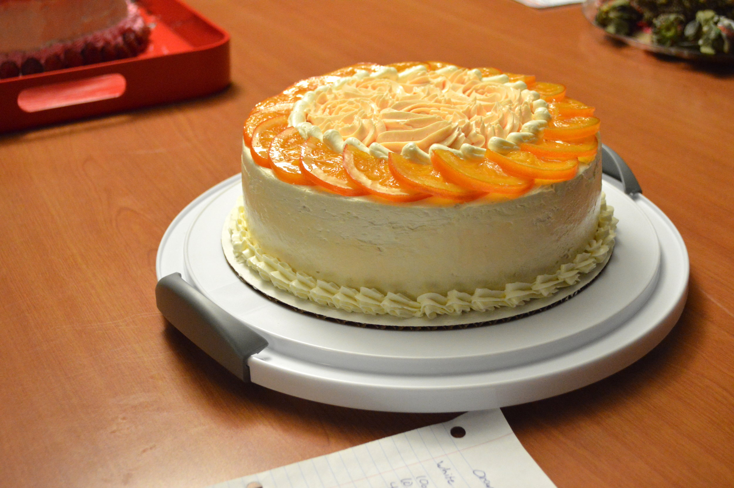 2nd Place - Ian McVaugh, CCAC Culinary - Orange, Cardamom, Vanilla Layer Cake with Italian Buttercream