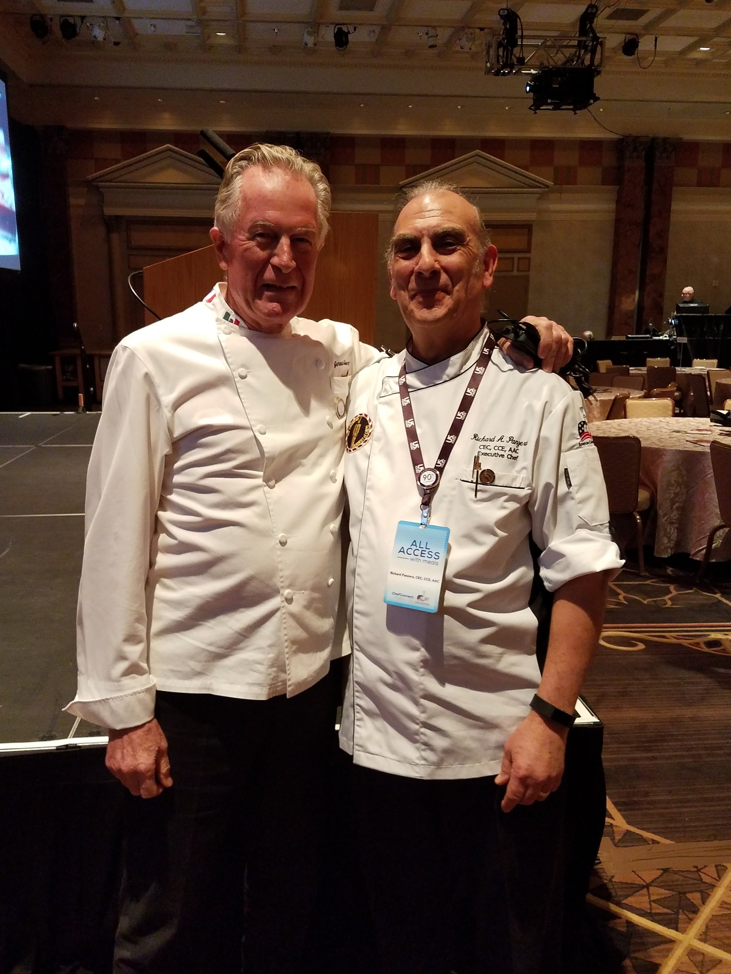 Chef Rikk Panzera with Jeremiah Tower