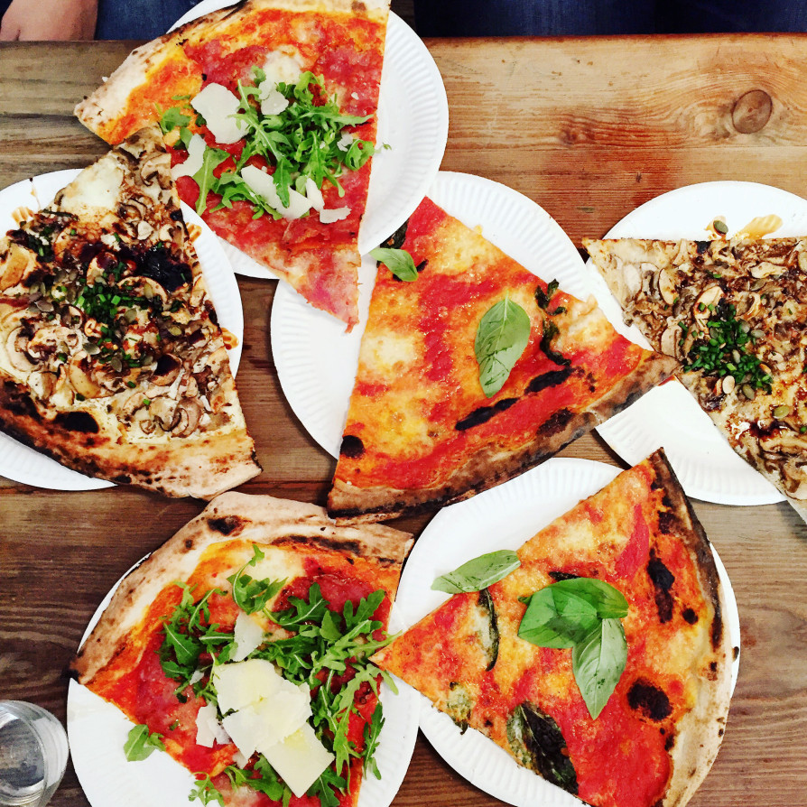 SLices as big as your head: Homeslice Pizza Review -