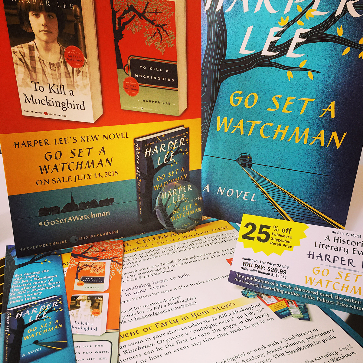 Bookstore event kit for the worldwide phenomenon  Go Set a Watchman.
