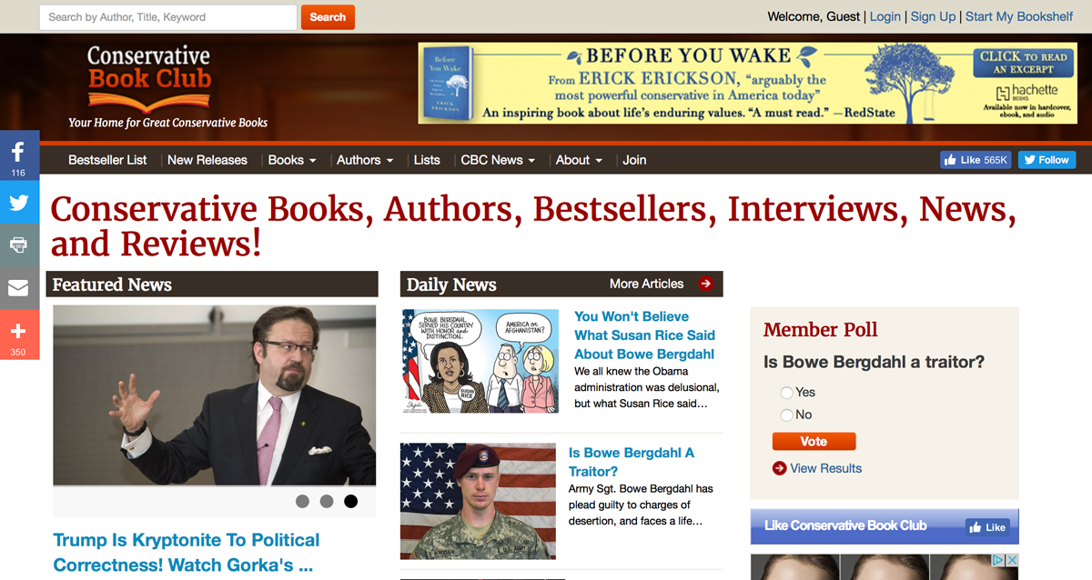 Before You Wake  Banner Ads for ConservativeBookClub.com for Hachette Books.