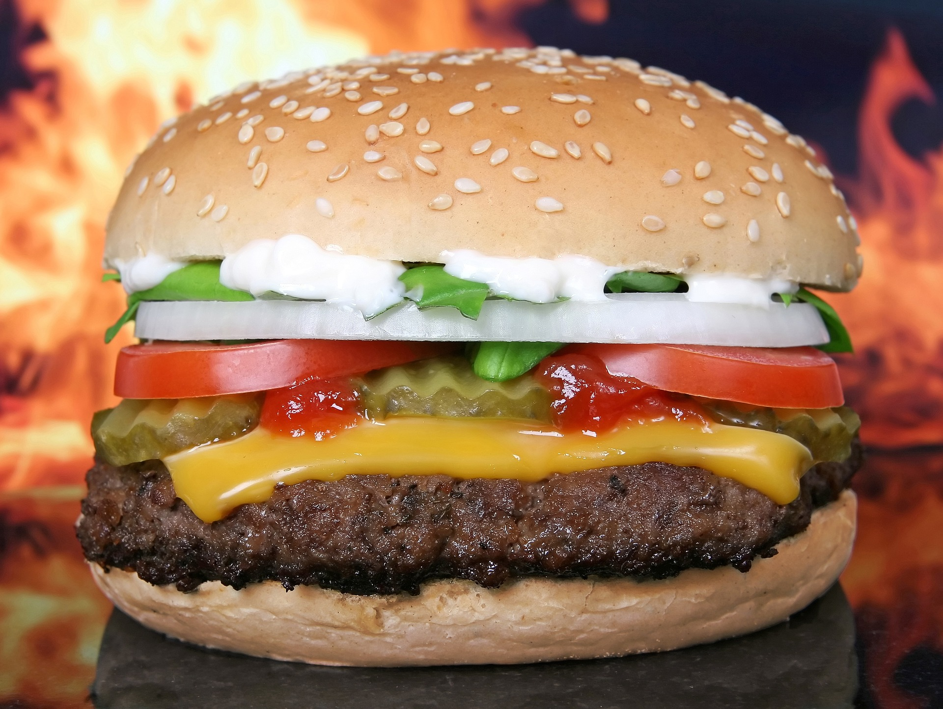 meet the burger coin!  (CC0 Creative Commons)