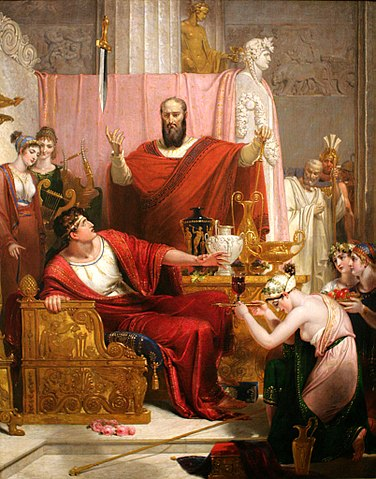 sword of Damocles dangling above ICO issuers (public domain)