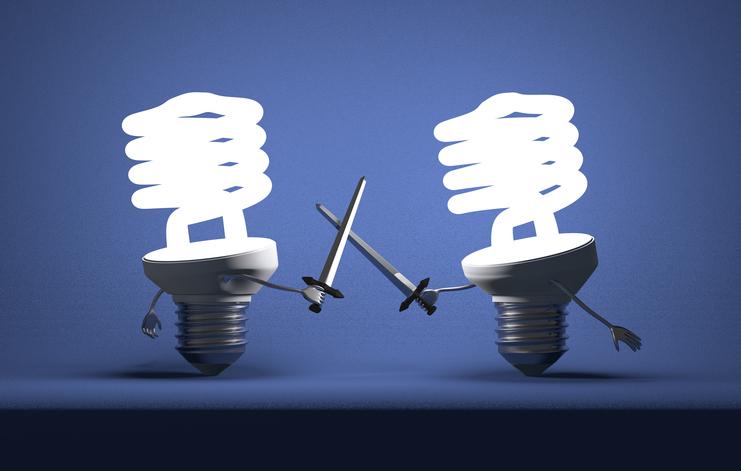 battle of ideas: patent litigations (Getty Images license)