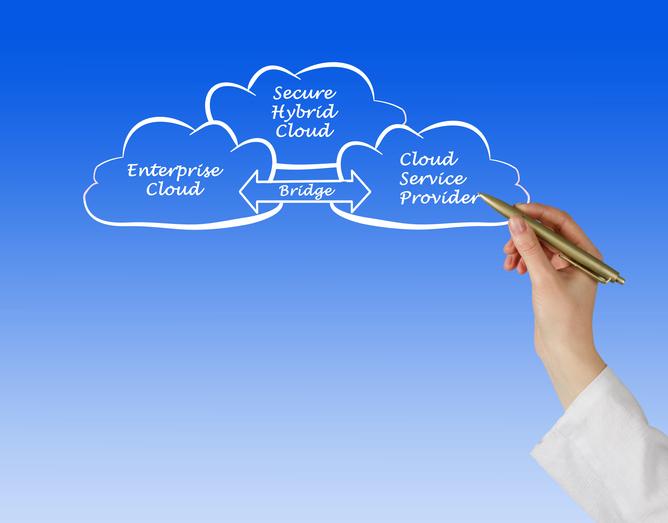 data management via hybrid cloud (Getty Images license)