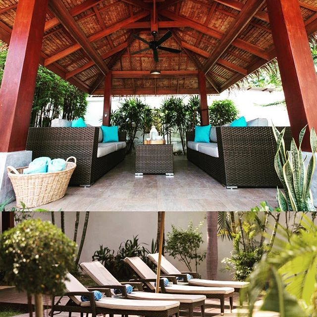 Plenty of places to chillax in Baan Jasmines gorgeous tropical garden! #visitthailand #kohsamui #britishairways #singaporeairlines