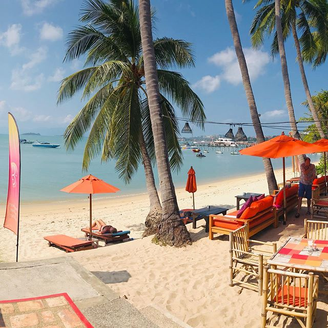 Secret Garden beach cafe close to Baan Jasmine - great Thai Food, location and beach! #koh samui#samui #visitthailand